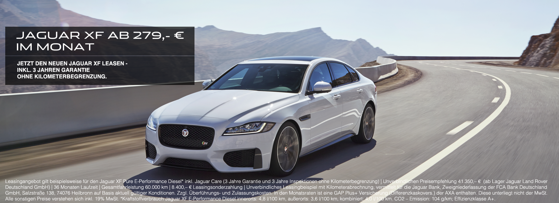 Jaguar XF Leasingangebot